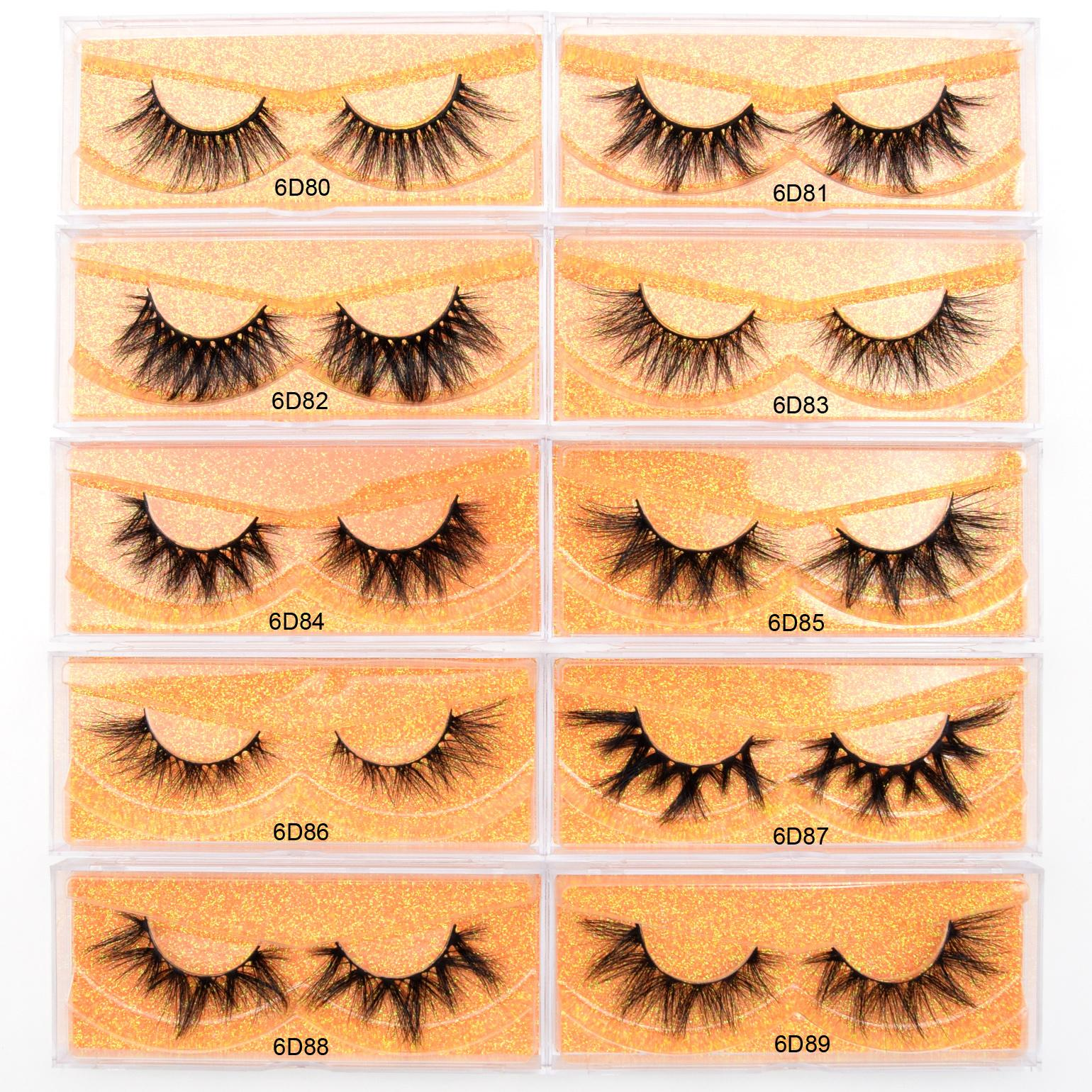 ups! 2020 new 16 styles 6d series cruelty free 3D 5D 6D 100% siberian mink fur eyelashes 13-20mm long mink eyelashes with storage lashes box