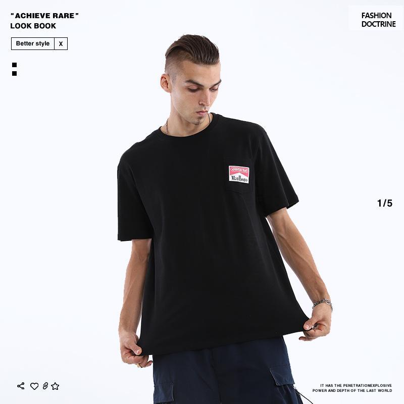Горячая продажа Mens конструктора T рубашки мужского Snake печать T-рубашка Мода Лета Мужской высокого качества с коротким рукавом Hip Hop шея хлопок Top S-XL