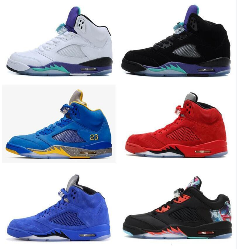 2020 tênis de basquete 5s Ice Nakeskin formadores Retro Laney Homens Bred Red Shoe Suede metálico branco Running Shoes cimento preto Sneakers Sports