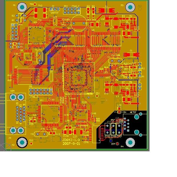 TMS320DM642 доски развития печатных плат и эскизное проектирование dm642 другие чипы tvp5150 saa7105h Altium Designer