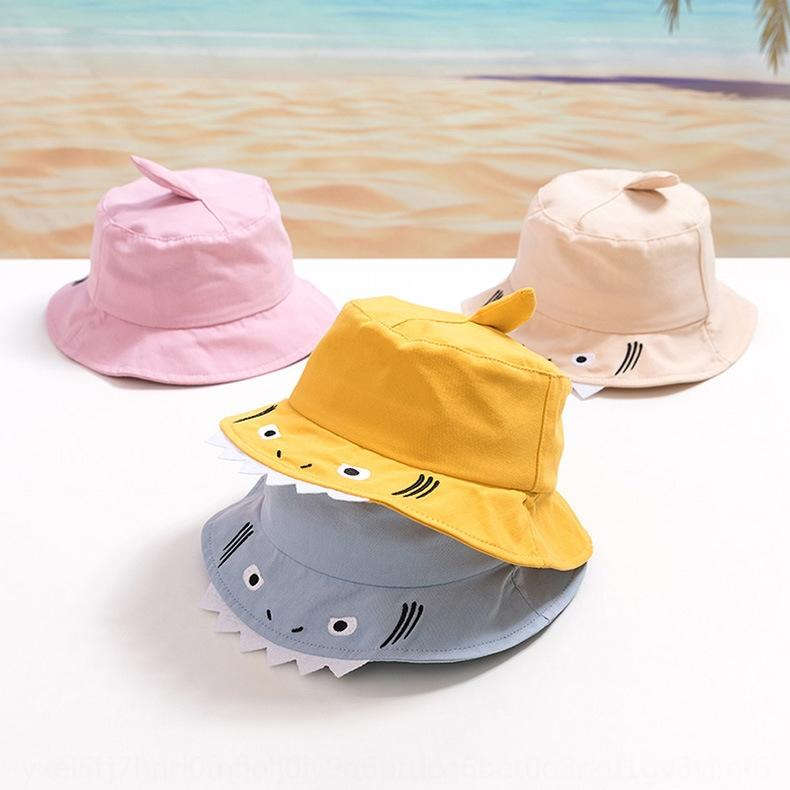 Shark children's basin children's summer cotton flat top baby shade fisherman MZ9349 Fisherman sun Hat sun hat