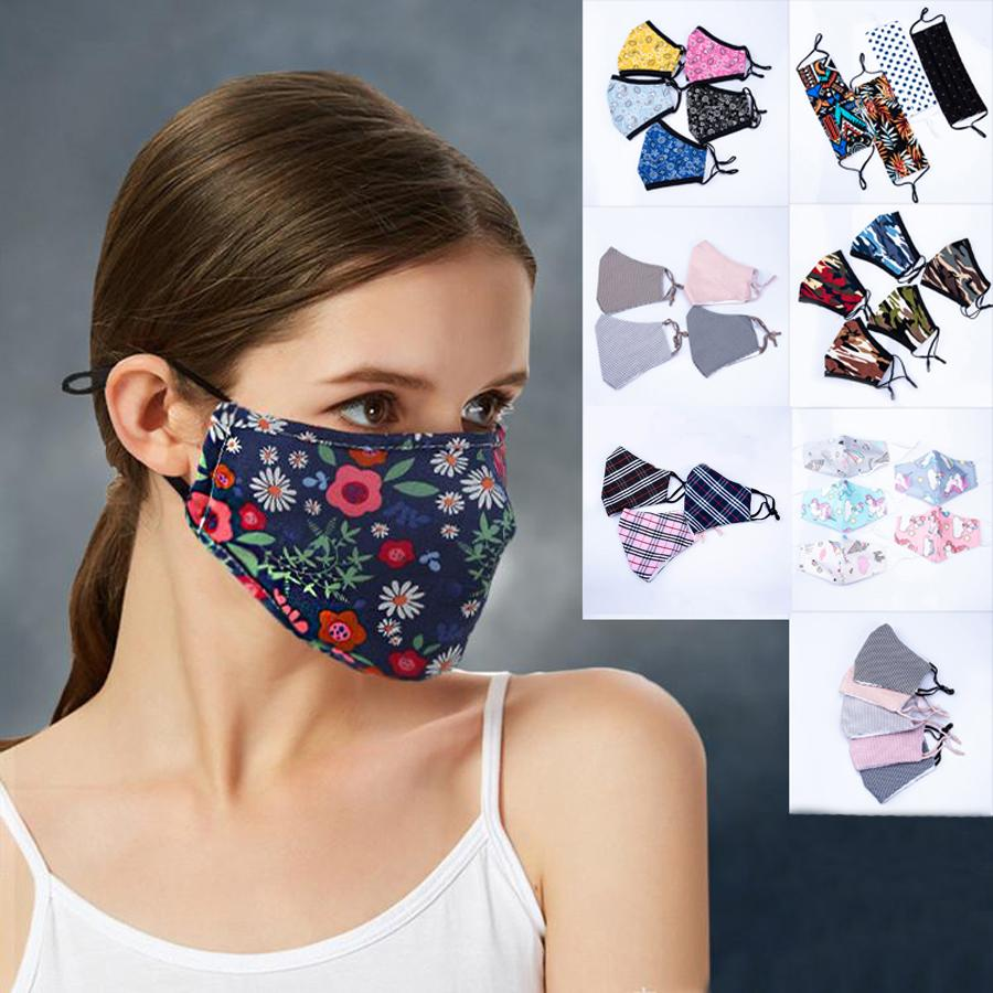 Party Anime Cute Bear 3D Print Mask Adult Kids Lower Half Face Mouth Muffle Mask Reusable Dust Warm Windproof Cotton Party Masks