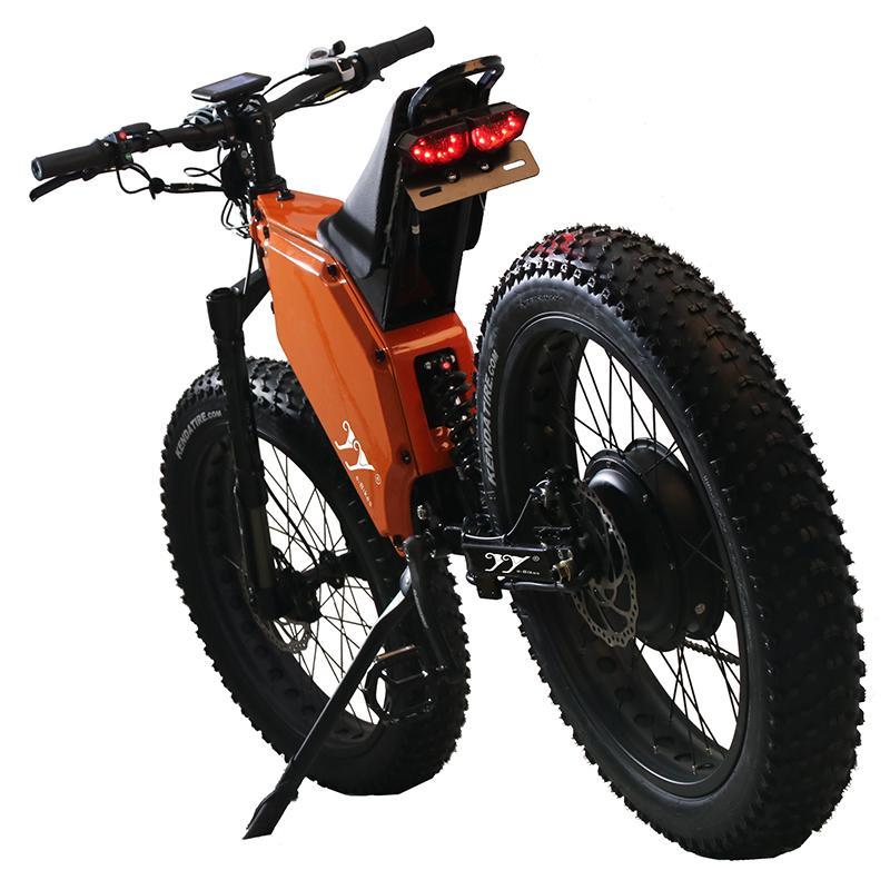 Bicicleta eléctrica de 26 pulgadas fuerte de montaña fuera de carretera para adultos 3.0 bicicleta de neumático de grasa 72V5000W26A / 41.6A Scooter de alta potencia