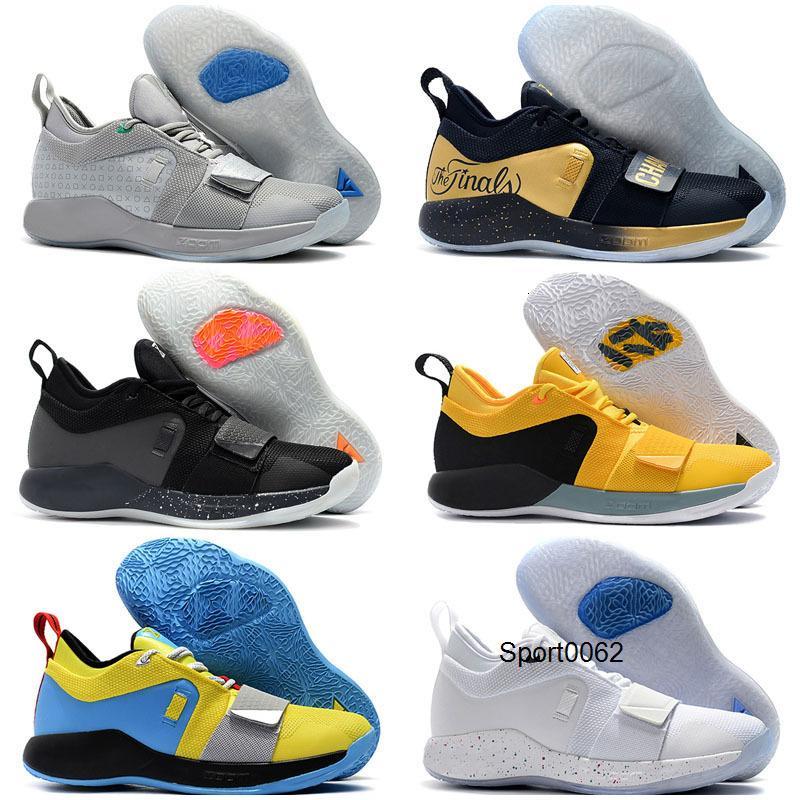 2020 Cheap Sale Paul George 2.5 Scarpe PG Bambini di pallacanestro per High Qaulitys Grigio Rosso Blu modo degli uomini atletici delle scarpe da tennis di sport