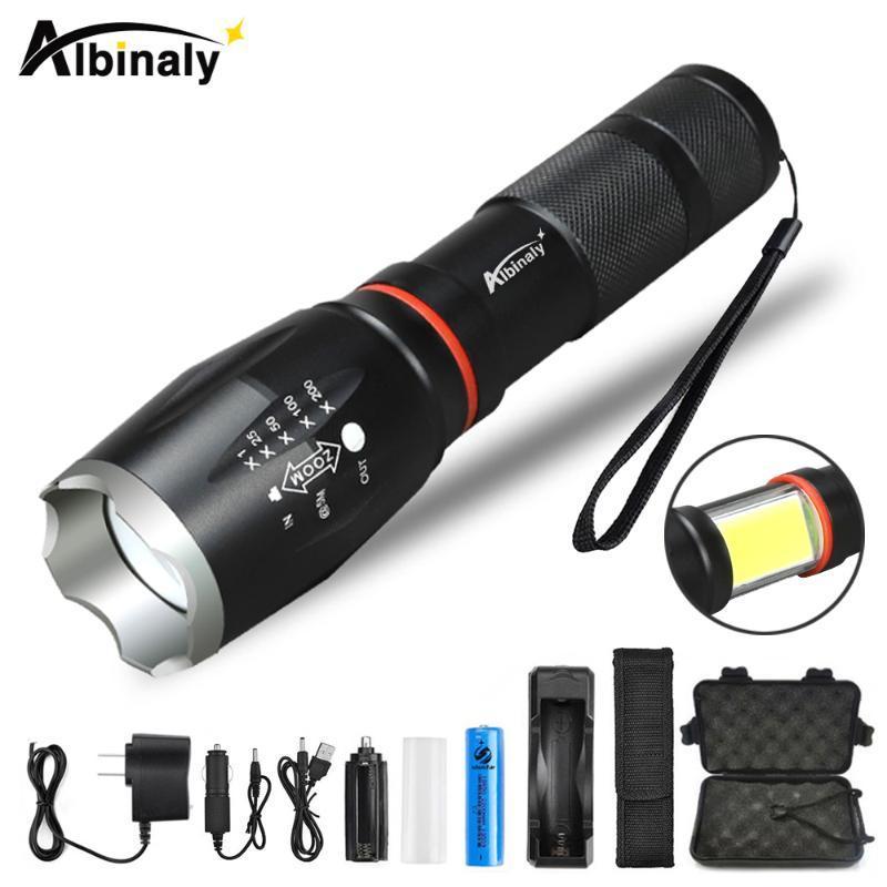 Multifunktions-LED wasserdicht T6 L2 Taschenlampe versteckt COB Design Schwanz Super-Magnetentwurf Camping Lampe