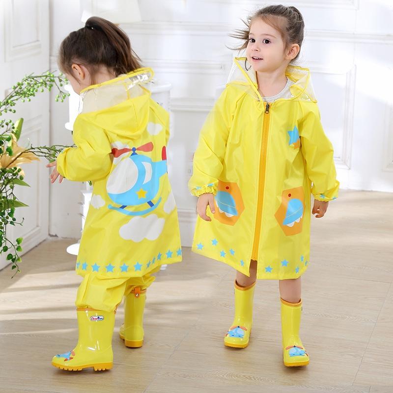 TJCFj capa de chuva do bebê impressa geração poncho capa de chuva leve respirável Manto de Crianças respirável luz dos meninos impermeáveis capa impermeável