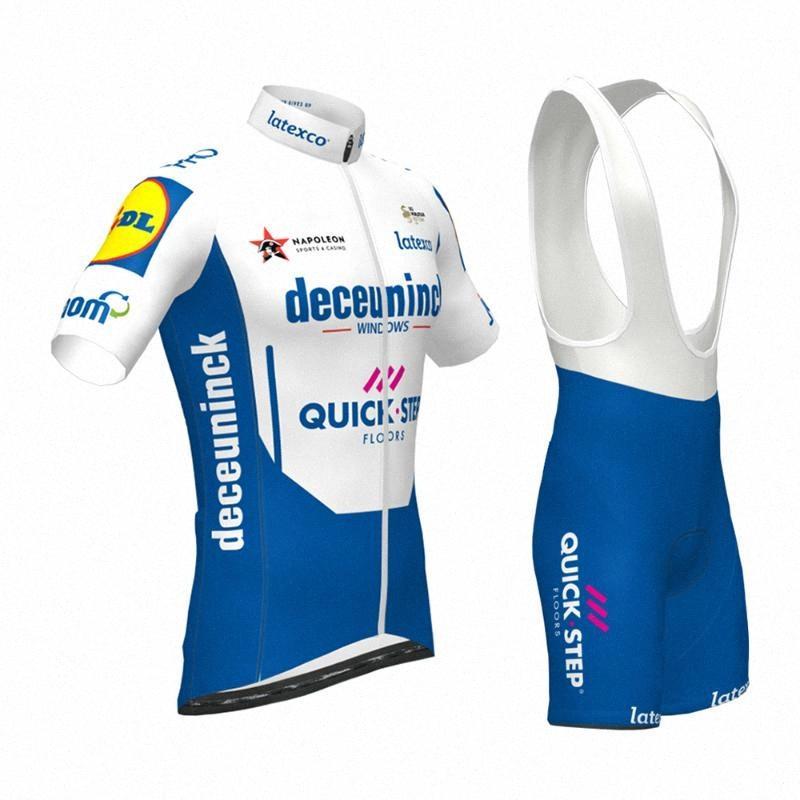 2020 2020 Новый квикстеп Pro Team Gel Pad задействуя Джерси нагрудник наборы велосипедов Cycle Ткань MTB Quick Dry велосипеда Одежда Ropa Ciclismo Xi2U #