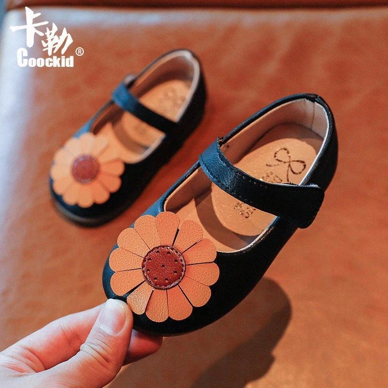 2020 Moda otoño del resorte Flores niño del bebé de la princesa zapatos de cuero muchachas de los niños suave de los zapatos de los niños Inferior Pisos Playa Zsul #