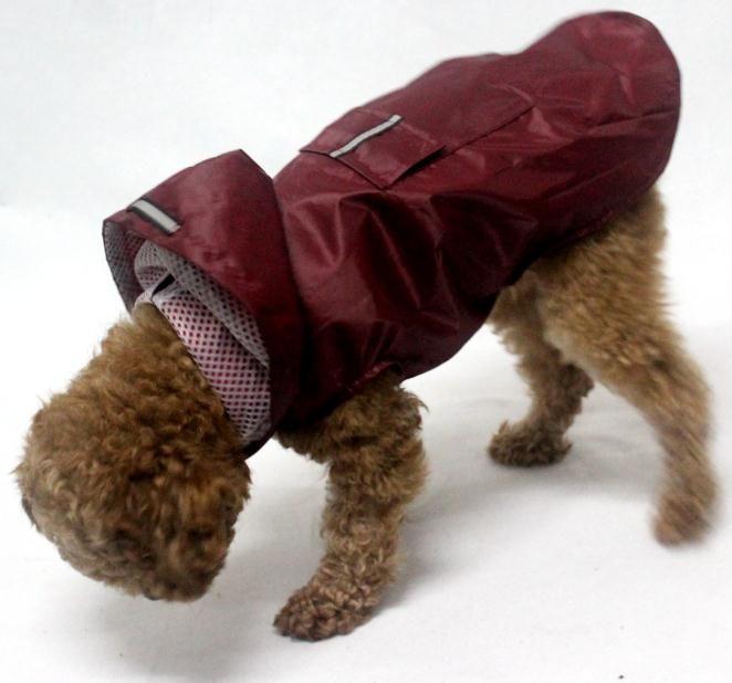 Gran Perro al por mayor de la calidad de Hight para mascotas reflectante poncho impermeable con capucha impermeable estupendo tamaño de la ropa del perro de 4 colores