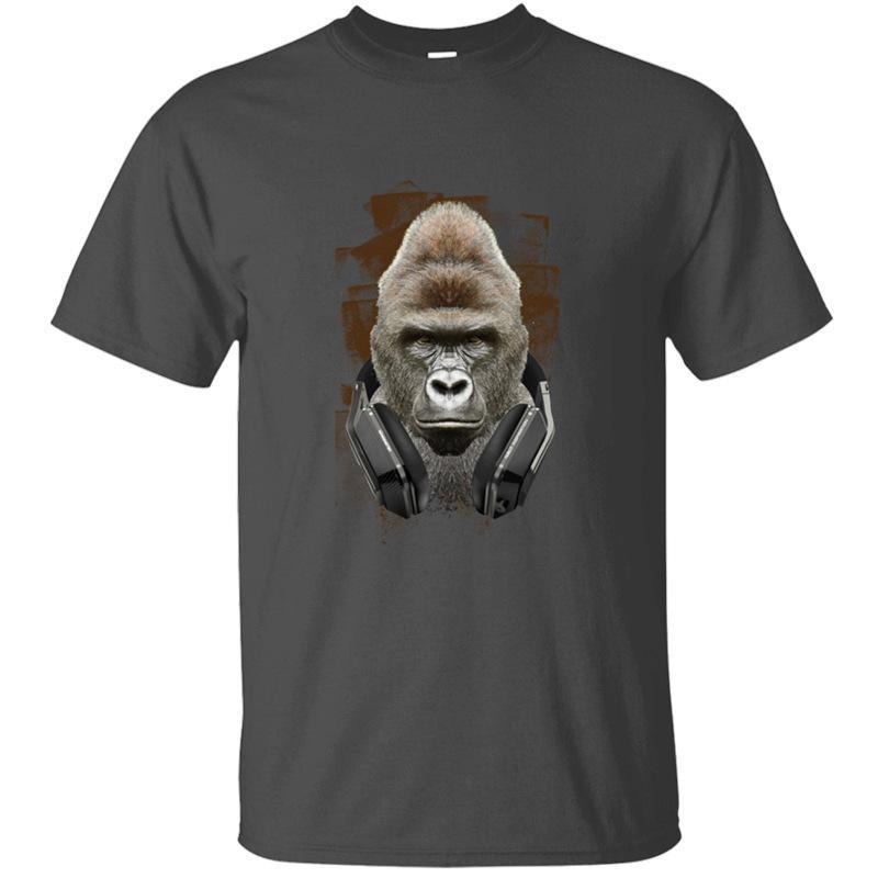 Yeni Gömme Müziksever Gorilla Vi Tişört Man Kawaii Yeşil Ordu Kadın Müthiş T Gömlek Kısa Kollu Camisetas