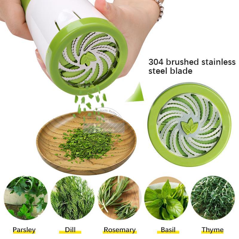 Konco Herb Grinder Spice Mill Parsley Shredder Chopper Vegetable Cutter Garlic Coriander Spice Grinder Kitchen Accessories