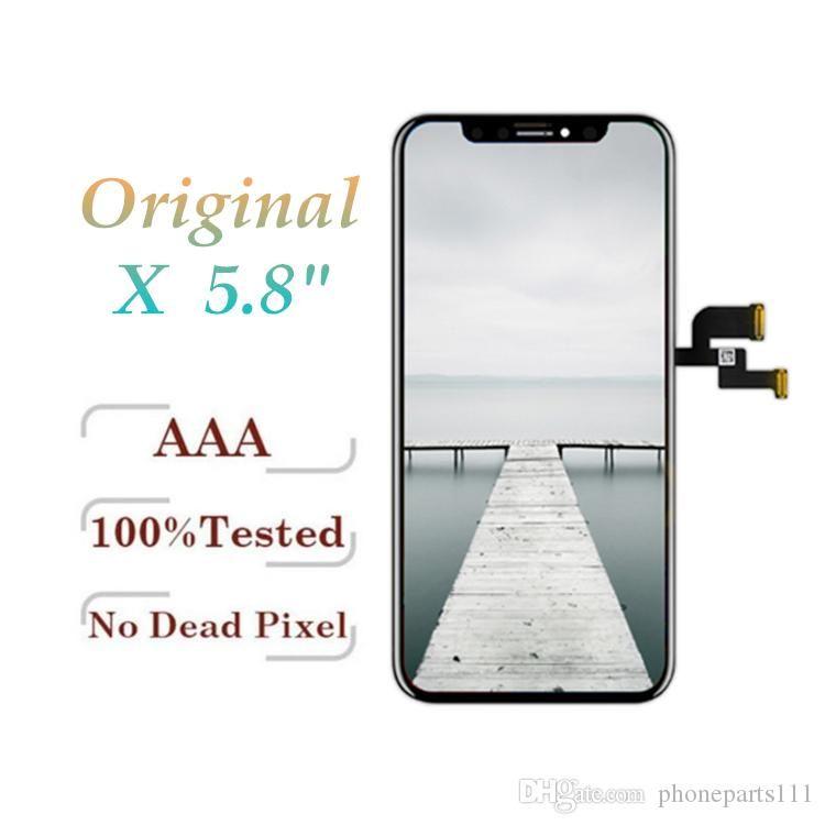 Çerçeve Tam Kurul Yedek Ücretsiz DHL ile iPhone X 5.8 inç Ekran Dokunmatik Sayısallaştırıcı Komple Ekran için% 100 Orijinal LCD