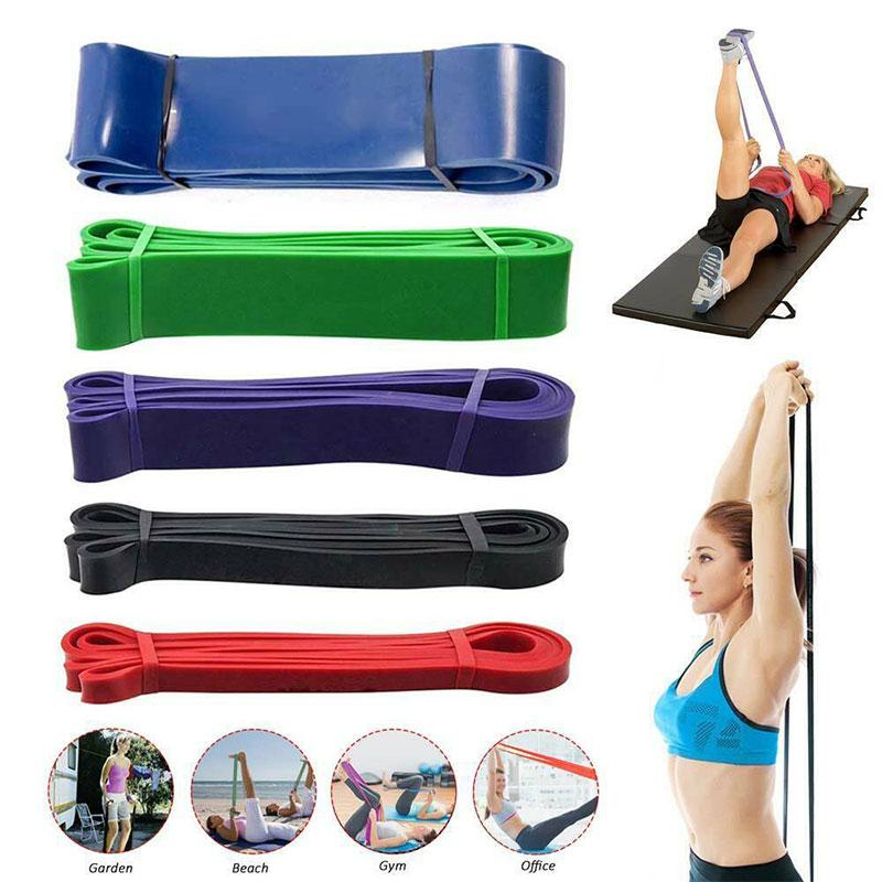 Strong Resistance Bands Loop Heavy Duty Exercise Sports Fitness Gym Yoga Pull UP
