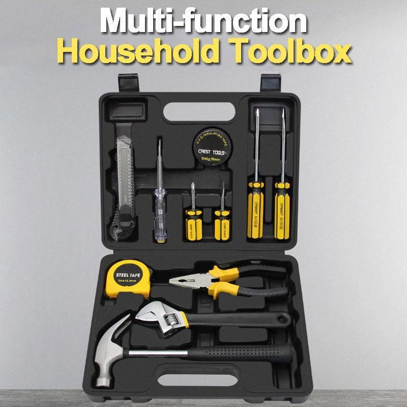 Lavorazione del legno Tool Set di cacciaviti set di coltelli Riparazioni corredo di attrezzi in una valigia per la casa a mano attrezzi Scatole Instruments wf2i #