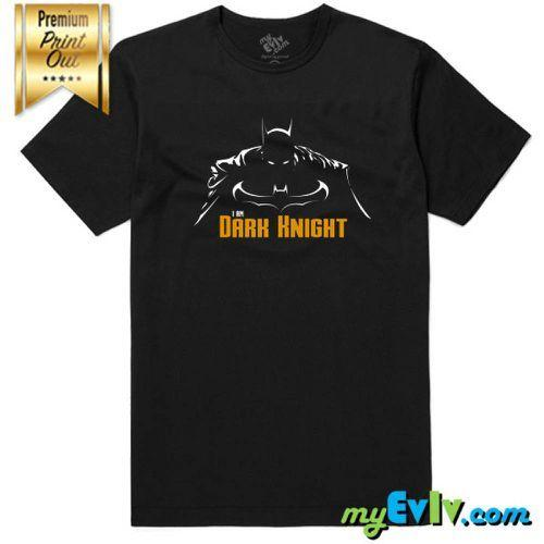2020 i Am Dark Knight T-shirt Maillot Homme Hauts Qualité Breathanle Casual Hommes T-shirts