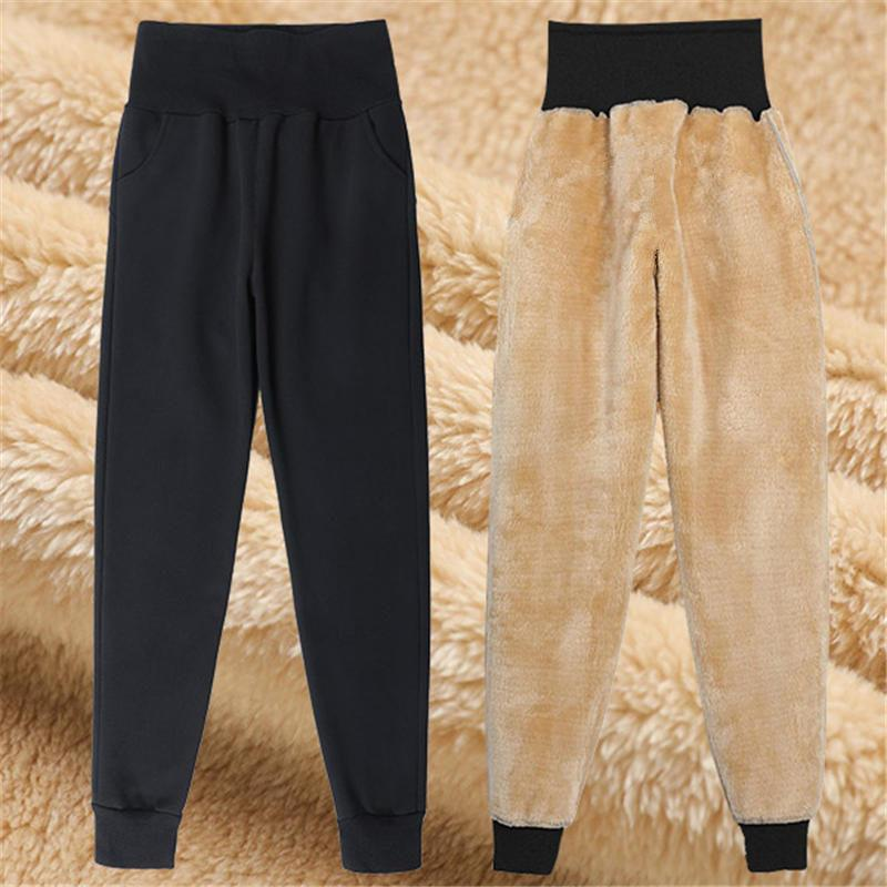 De plus épais velours Sweatpants femmes Mujer Pantalones lâche taille haute Lambswool Pantalons Pantalons pour femmes Taille Plus sarouel Q2821