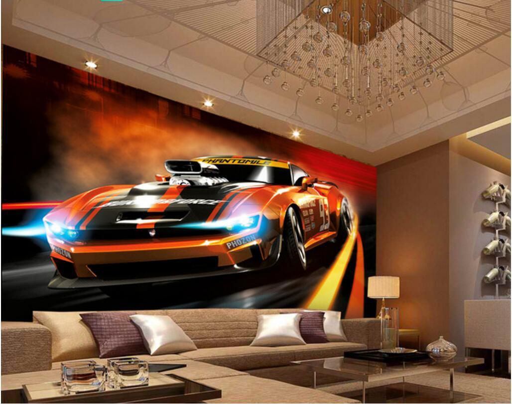 3d обои на стене пользовательские фото настенная Dynamic моды спортивный автомобиль фоне стены обои номер для стен 3 г Домашнее украшение