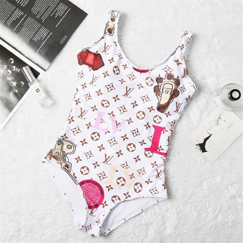 2020 Hot Sale 10 Couleur Croix Blanche Mode Sling Lettre Imprimer Maillots de bain Bikini pour les femmes maillot de bain sexy bain une COMBI S-XL NN7