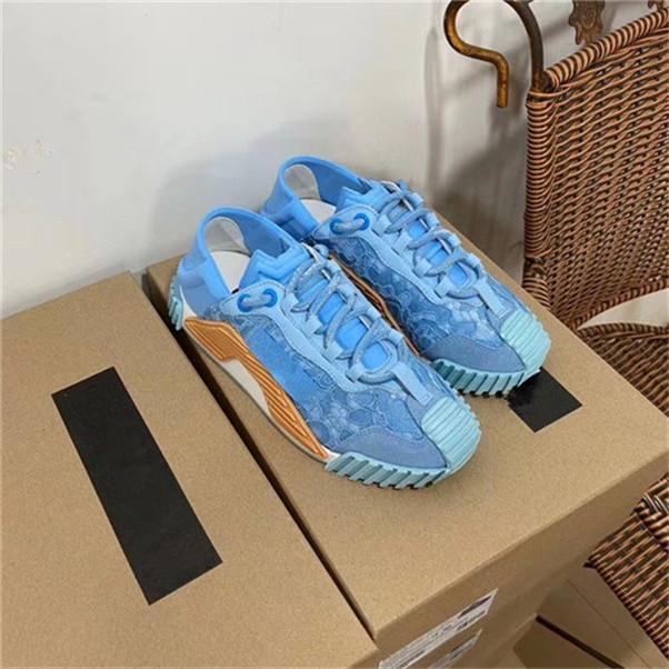 Damenschuhe Comfort Lace Up Connect Freizeitschuhe Paris Plattform-Leder-Patchwork Wandern Tennis Sneaker Chaussures AA5