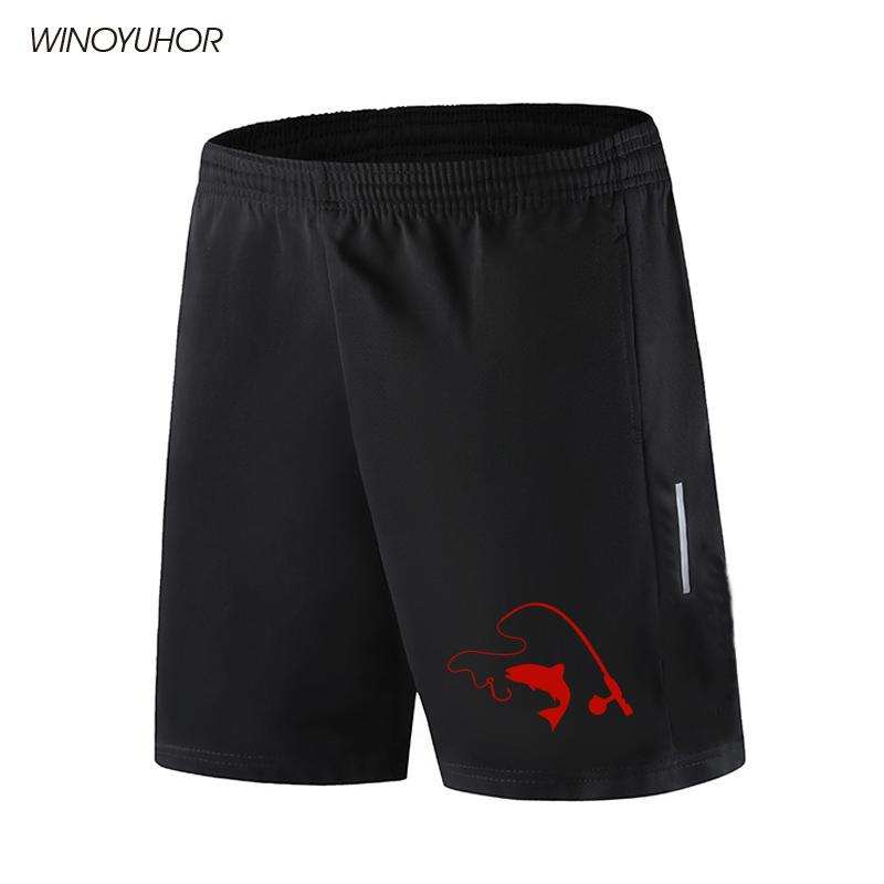Casual Shorts Men Slim Fit 2020 New Summer Fashion Breathable Short Pants Fishing Rod And Fish Printing Beach Shorts Homme