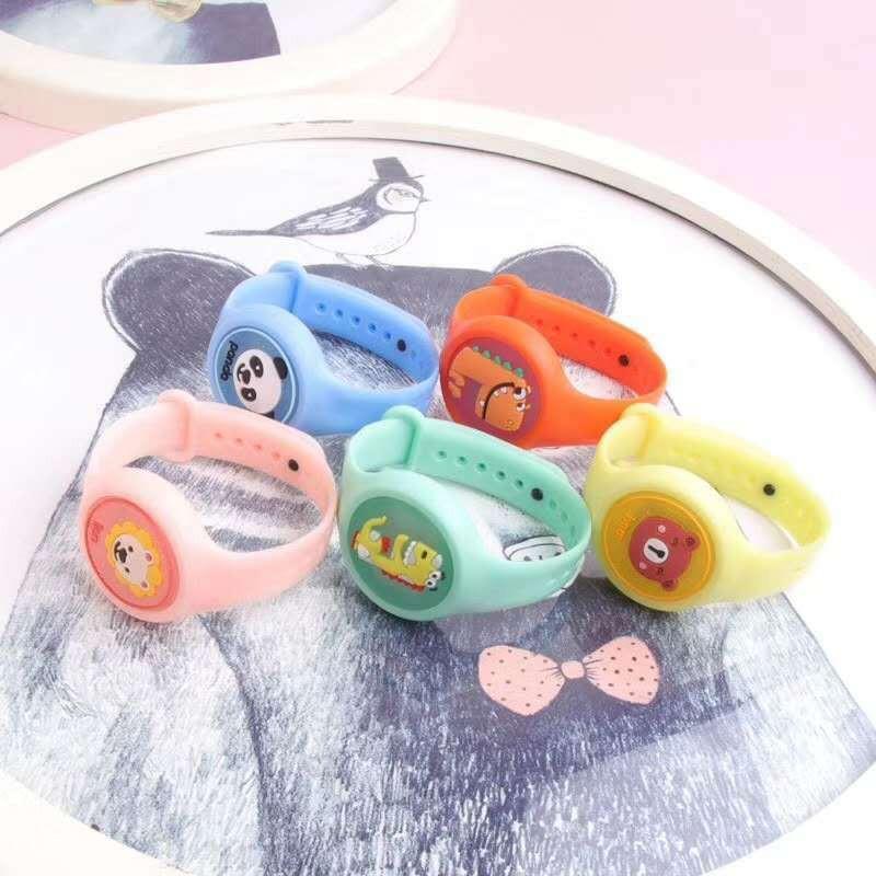 최신 디자인 아이의 모기 구충제 팔찌 천연 에센셜 오일 손 손목 밴드 팔찌 안티 모기 시계