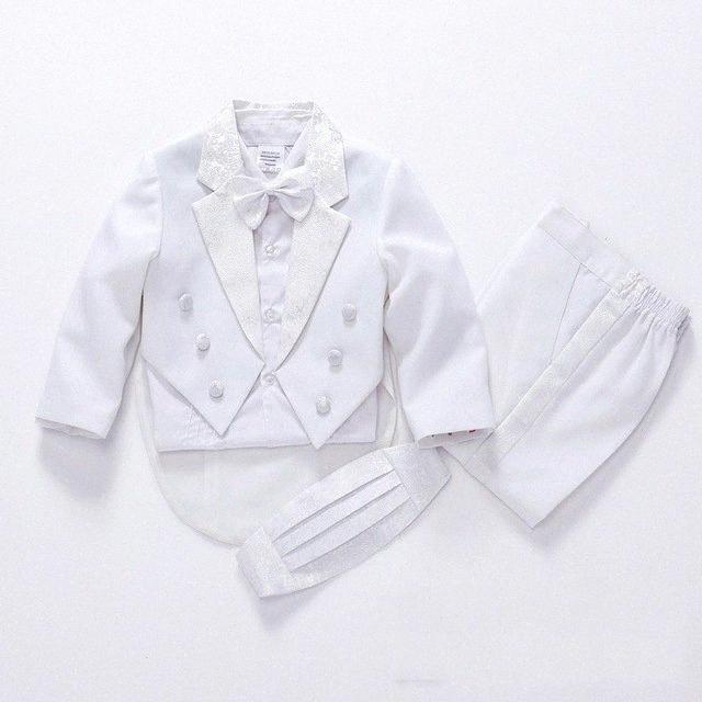2019 fashion white/black baby boys suit kids blazers boy suit for weddings prom formal spring autumn wedding dress boy 5pcs 0dhC#