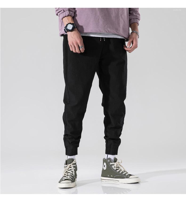 Pantalons Jeunesse d'été simples Hommes Pantalons Couleur solides en vrac Hommes Crayon Pantalons Quatre Saisons Gais Casuel