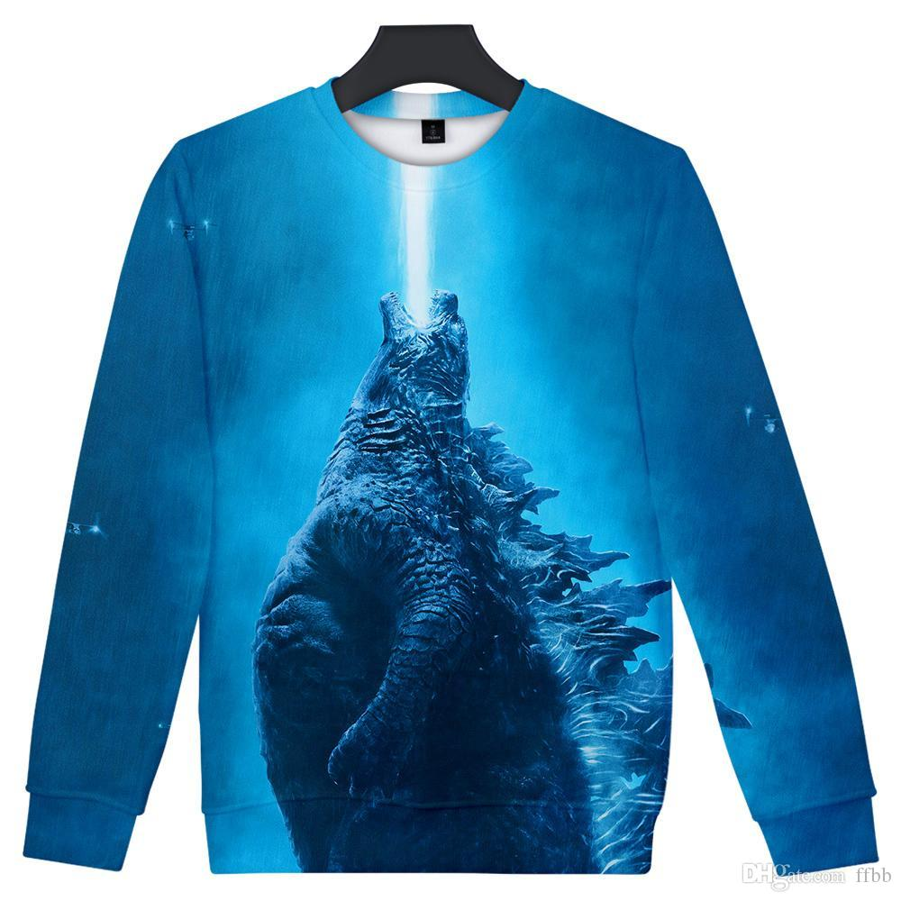 American Movie Godzilla 2 : King of the Monsters 3D print Round neck sweatshirt Men/Women Casual Harajuku O-neck Clothes