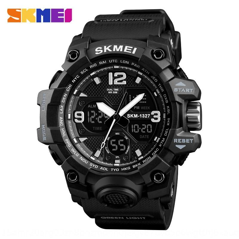 cKYNg Moment double display student electronic 1327 Outdoor sports Electronic outdoor sports stopwatch alarm clock calendar waterproof watch