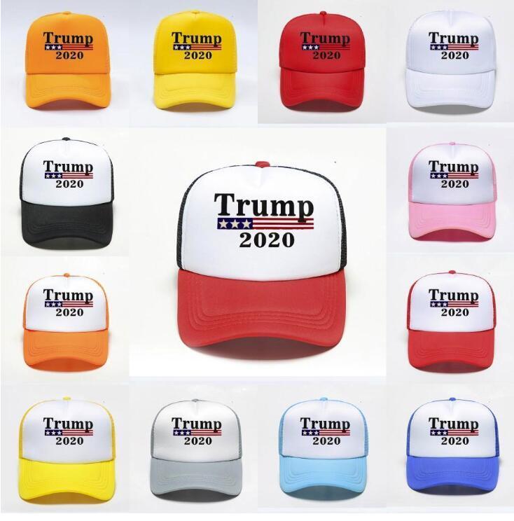 DHL envía Trump 2020 Caps Presidente de béisbol Elección de algodón transpirable ajustable del casquillo del sombrero del acoplamiento al aire libre Mujer Hombre FY6076
