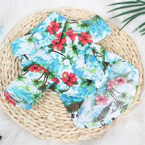 DHL Hawaii-Hund Shirts Hundekleidung Haustier-Sommer-kühle Sommer-Blumen-Ananas-Hemd für kleine bis mittlere Welpen-Hundekatze