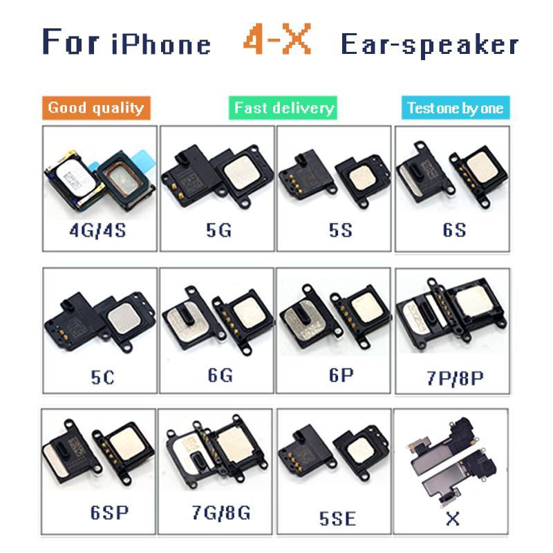 10pcs / lot fone de ouvido Flex Speaker Cable Para iPhone 4 4S 5 5C 5S SE 6 6Plus 6S 6S mais 7 7plus 8 8plus X Ear Som Receiver Original
