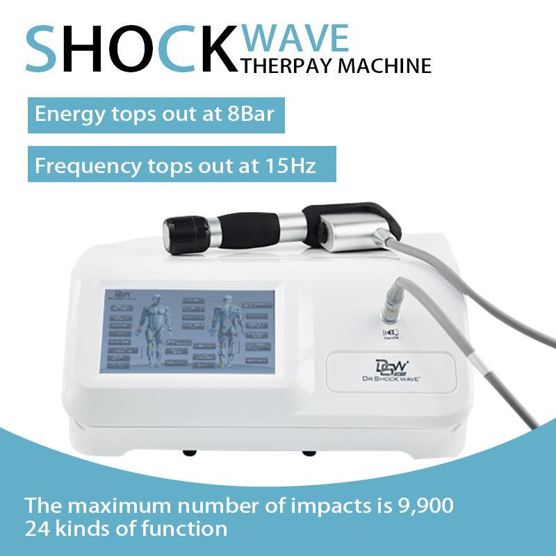 SW20 8 bar terapia 15Hz onda de choque a fascite plantar cotovelo de tenista Aquiles tendinite do ombro Tendinite articulações máquina alívio da dor