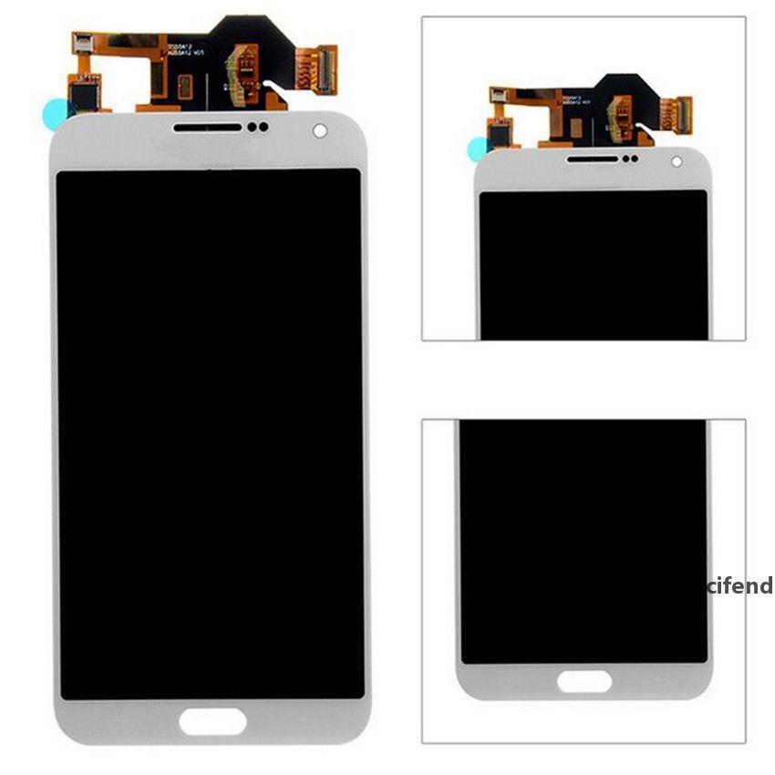 DHL Parlaklık demirli Samsung Galaxy E7 E7000 E700F LCD Ekran Dokunmatik Ekran Sayısallaştırıcı Meclisi için ayarlanabilir