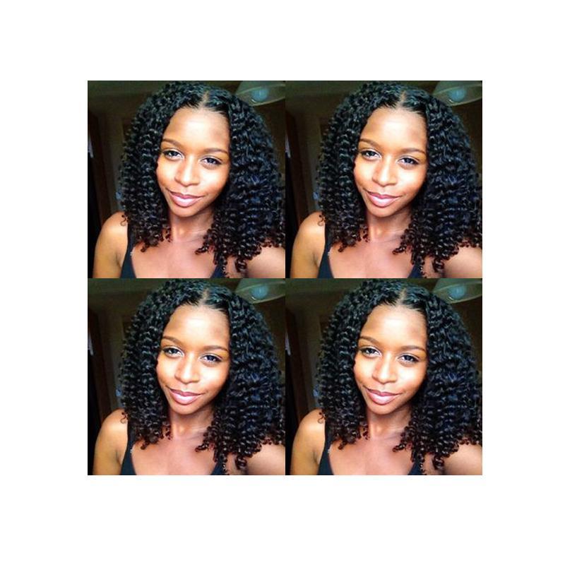 neue Frisur Damen brasilianisches Haar Afro Americ verworrene lockige natürliche Perücke Simulation Menschliches Haar afro verworrene lockige Perücke mit Mittelteil