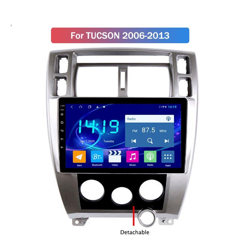 Android 10 2 Din Автомагнитолы Автомобильный радиоприемник DVD-плеер автомобиля GPS Wifi Bluetooth приемник для HYUNDAI TUCSON 2006-2013 2.5D IPS экран