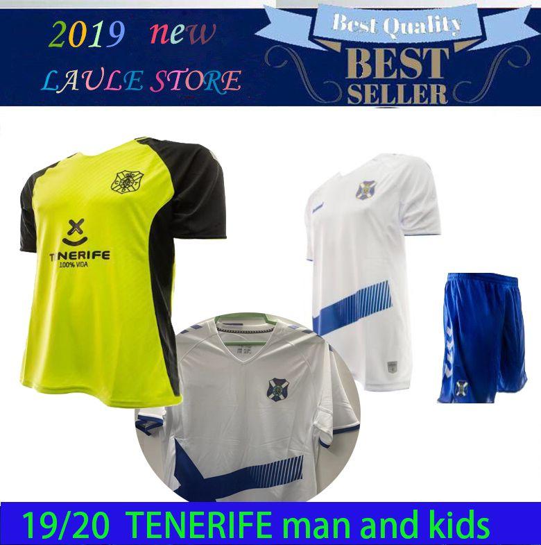 CD 테 네리 페 축구 유니폼 홈 성인 키트 19 20 Maillots Kids Football Shirt 사용자 정의 Camiseta de Fútbol White Jerseys