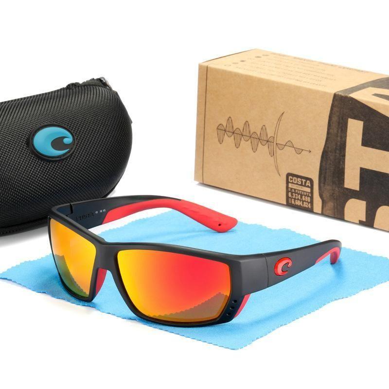 occhiali da sole del mens Costa occhiali da sole Tuna Alley D706 colorato polarizzata lente Surf / pesca bicchieri donne dal design di lusso occhiali da sole TR90 Telaio