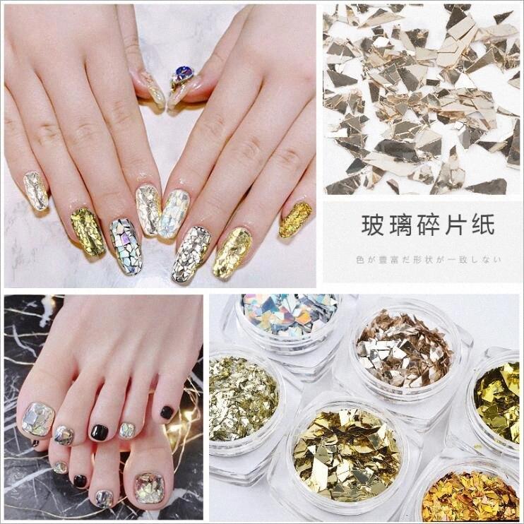 6 Style Nail Glitter Multicolor Diamond DIY UV Gel Decoration Mini Round Thin Paillette Design Nail Art Glitter Supplies hbc6#