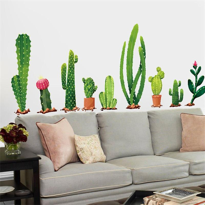 Originality Potted Plant Wall Sticker Cactus Bedroom Living Room Background Autohesion Decoration Mural Water Proof Wallpaper 3 5ss Bb Vinyl Wall Stickers Decals Vinyl Wall Stickers Quotes From Highqualit02 2 17 Dhgate Com