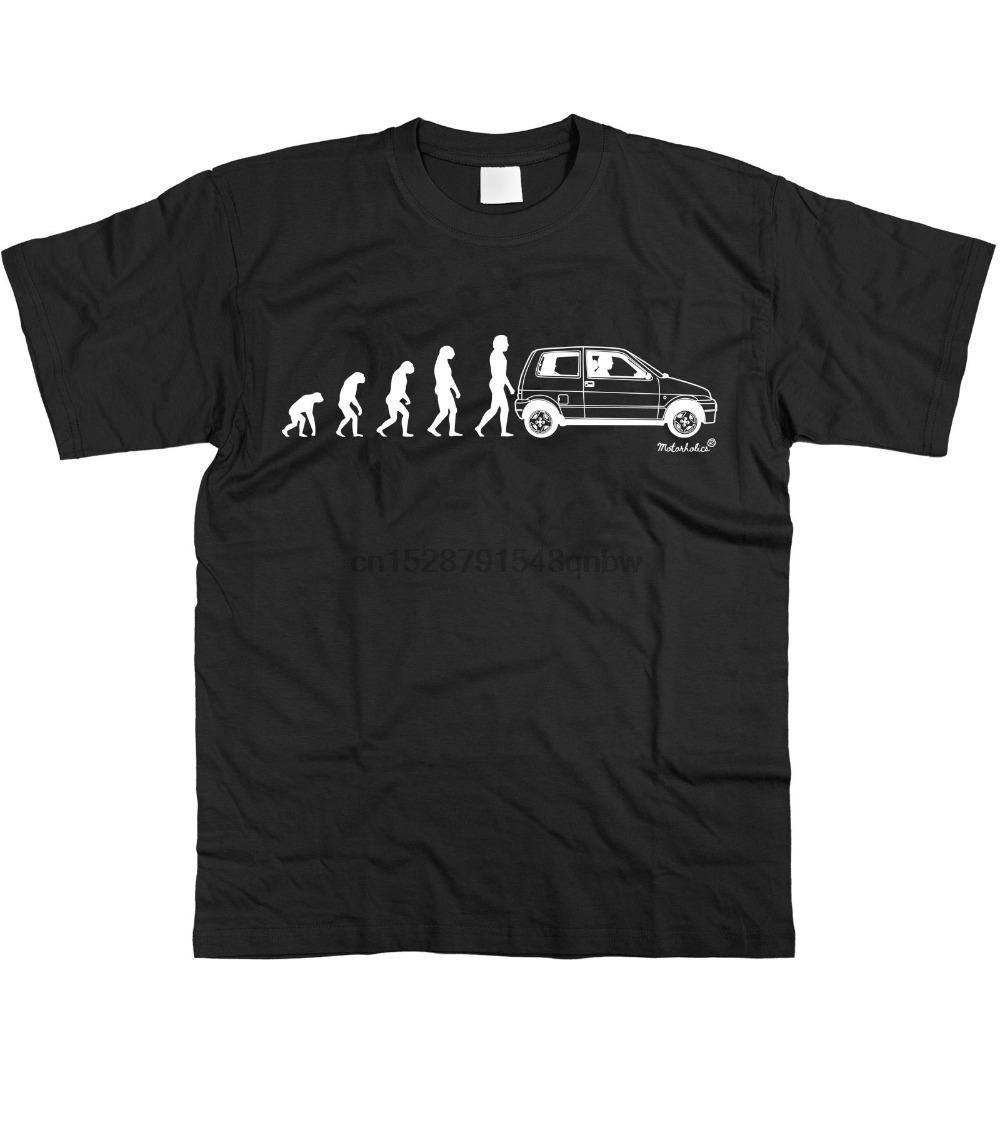 Mens Evolution Of Man To Italian car fans Cinquecento T-Shirt S - 3Xl new Spring High-Elastic Cotton New Funny Tee shirts