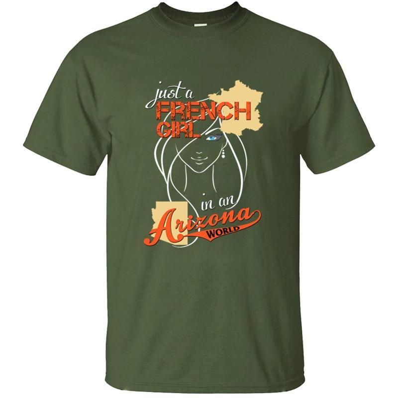 Shirt vintage francese Ragazza In Un Arizona Mondiale T per la Mens 100% cotone nero unisex Homme novità Uomo T-shirt Top Tee