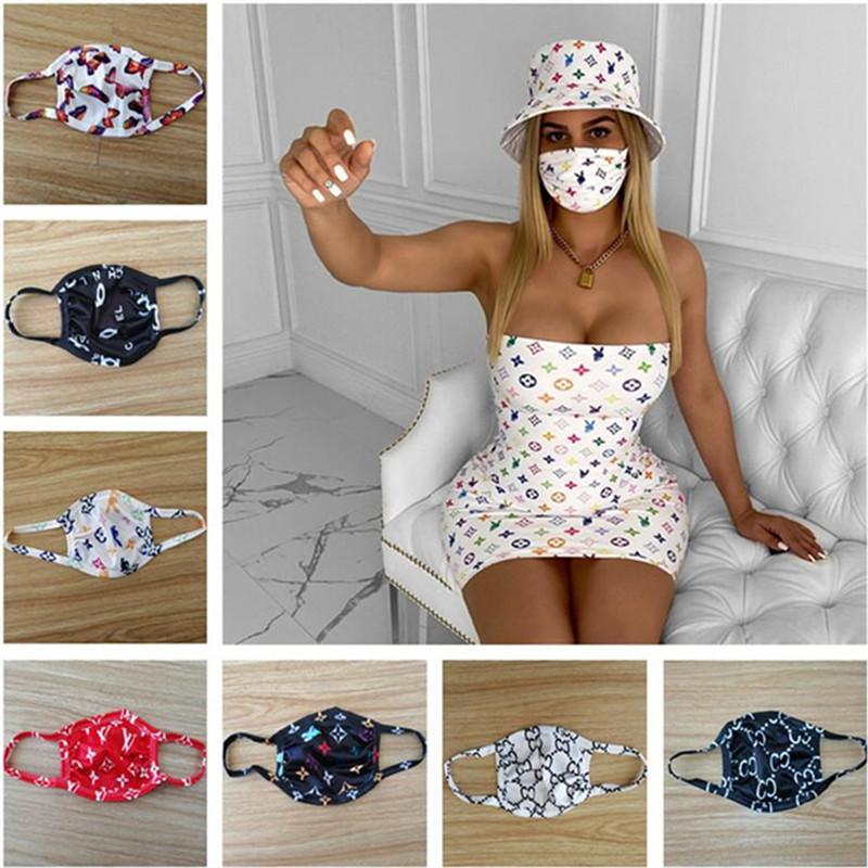 Unisex-Gesichtsmaske Anti-Staub UV-proof Masken Männer Frauen Mouth-Muffel Trendy Printed waschbarer Sommersport Schutzgesichtsmaske 11 Stil