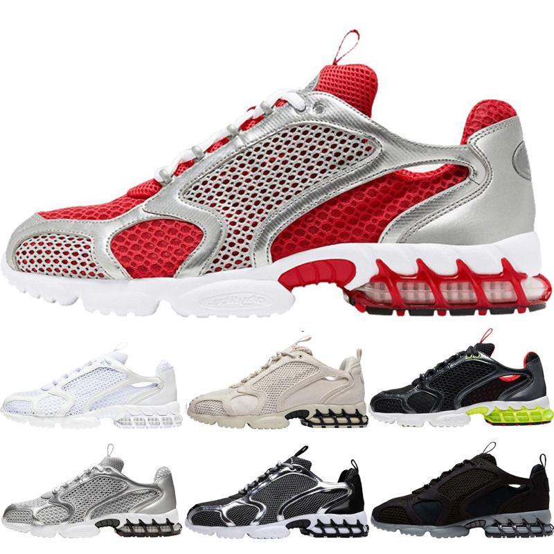 Hotting zoom Spiridon zapatos deportivos para mujer para hombre del equipo universitario rojo metálico de plata pura Luz Platino Gris Gris Negro Limón Venom chaussures zapatos
