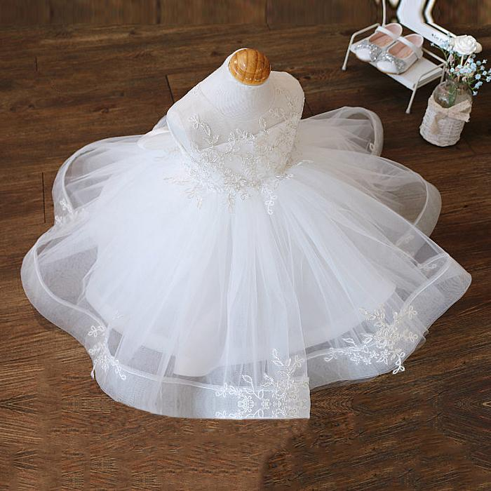 Baby Girl Dress 1st Birthday Outfit Summer Newborn Princess Baptism Clothes Big Bow Christening Wedding Gown Infant Party Dress CX200803