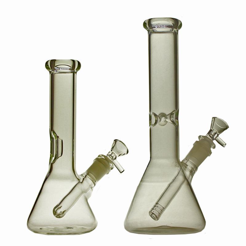 Saml 8 o 10 pollici Beakeer Bong Bong narghilè Acqua Tubo di acqua DAB Rig diffusione Percolato Chiaro Dimensione articolazione 14.4mm PG5211