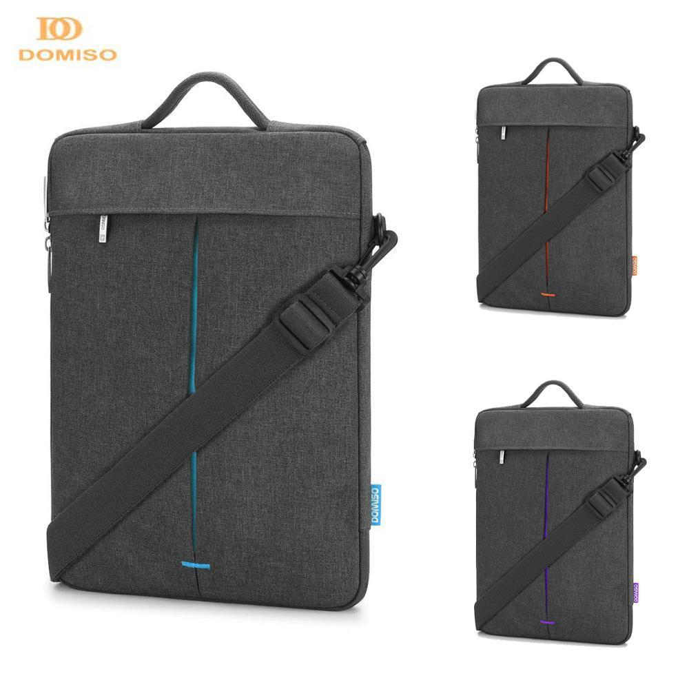 DOMISO 11 13 14 inch Water Resistant Laptop Sleeve Case Computer Messenger Shoulder Bag Notebook Briefcase T200727