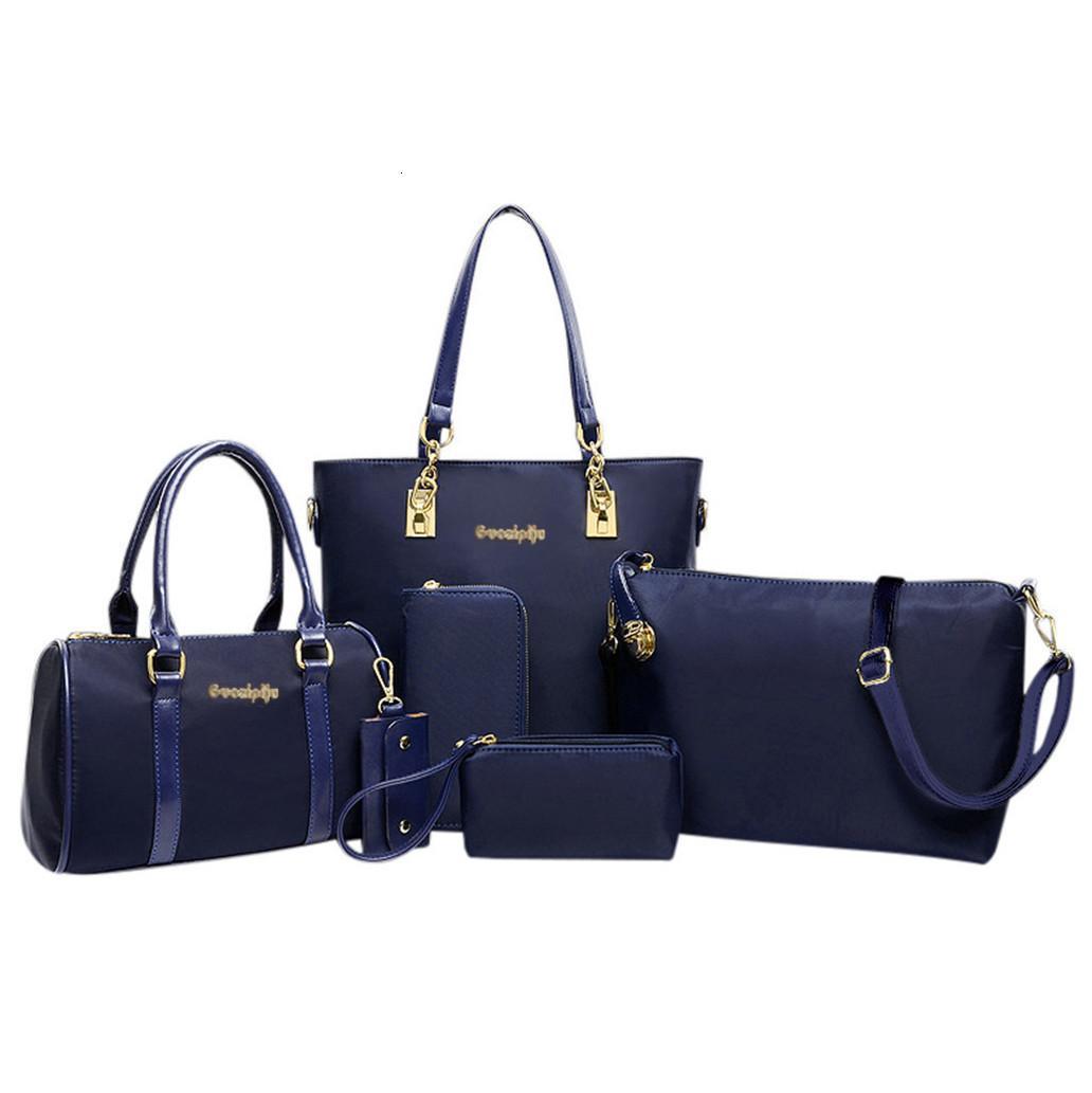 6Pcs Seti Kadınlar Çanta Moda Altı Adet Set Omuz Crossbody Çanta Tasarımcı Çanta Bez Çanta Bayan Debriyaj mochila G10