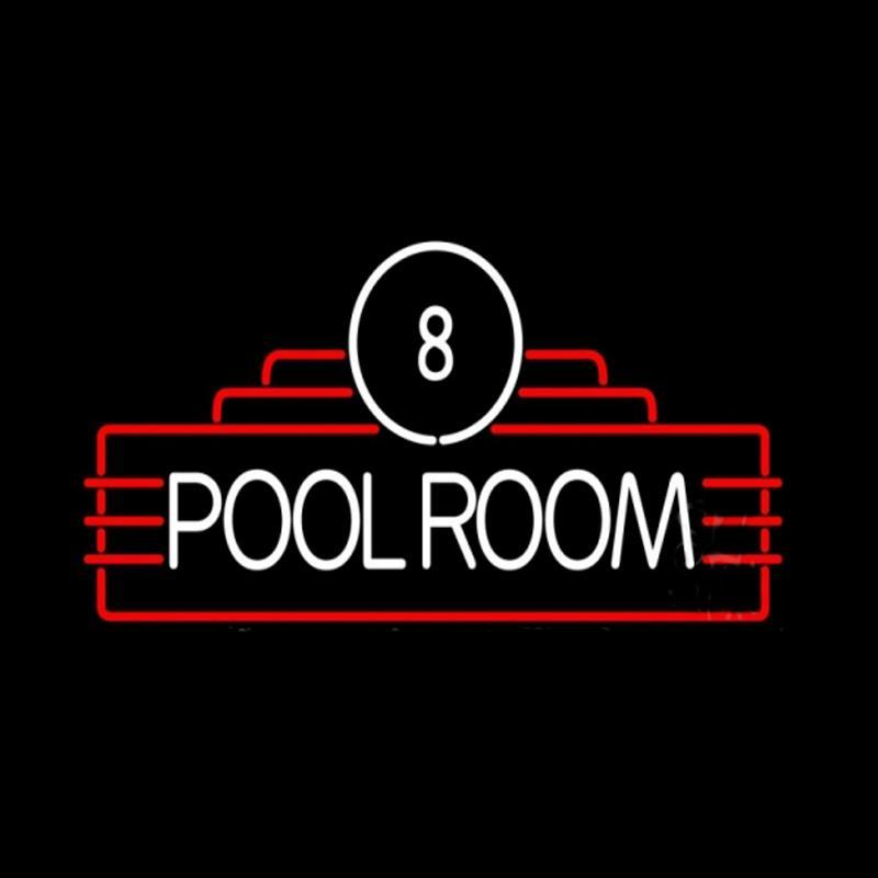 "POOL ROOM Eight Custom Neon Sign Handmade Real Glass Tube Sport Gameroom Advertising Decoration Display Neon Signs 17""X14"""