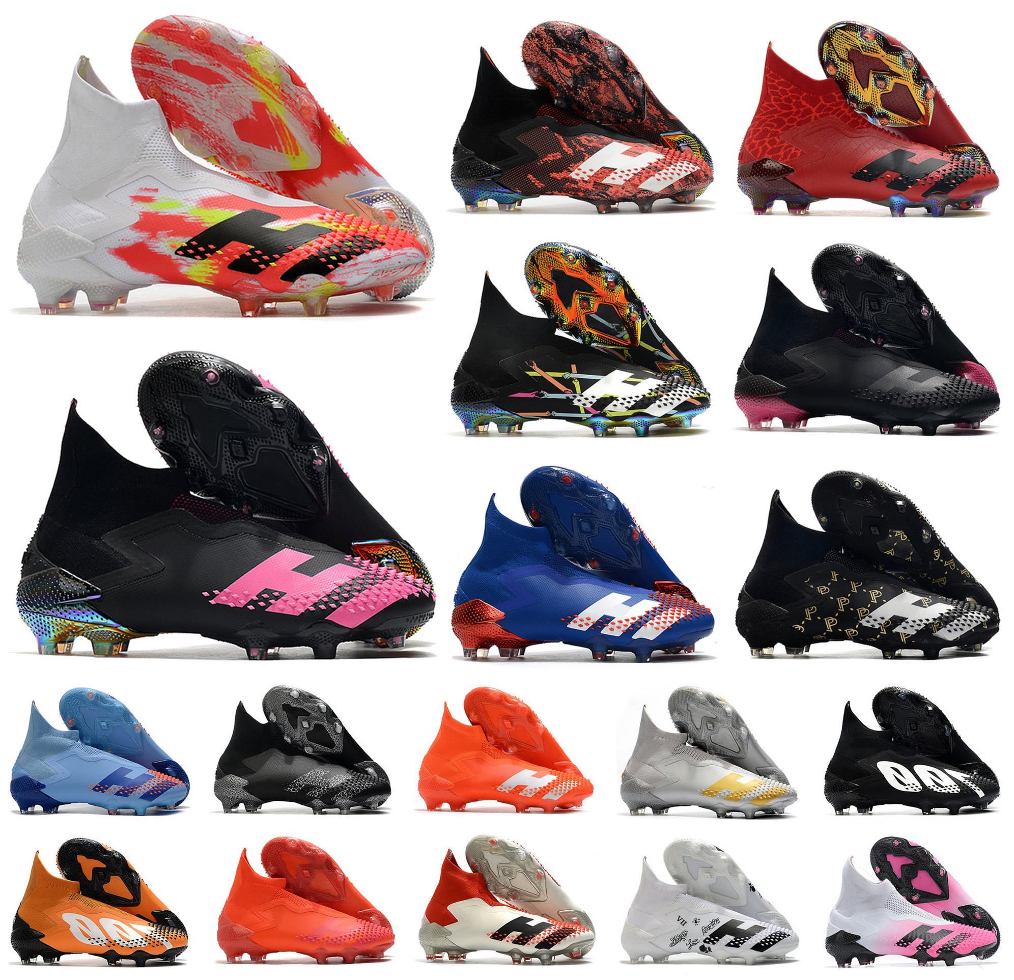 2020 Hot Predator Mutator 20+ FG Uniforia Packung PP Paul Pogba Herren Jungen Slip-On-Fußball-Fußball-Schuhe 20 + x Klampen Stiefel hoch Größe 39-45